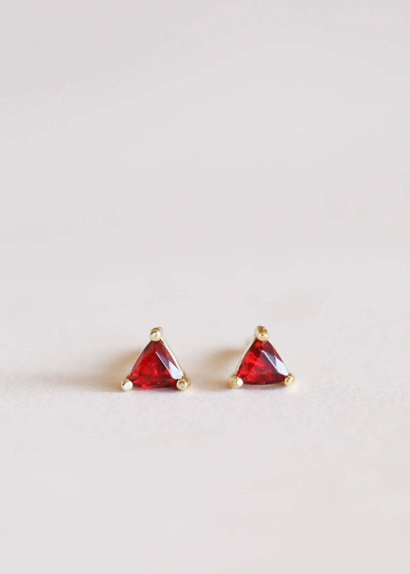 Garnet Mini Energy Gems Earrings
