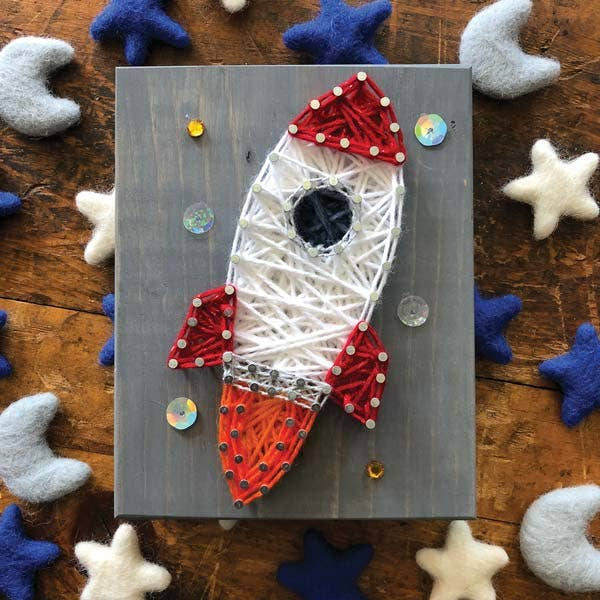 Strung by Shawna - Rocket Mini String Art Kit - DIY