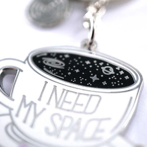 Compoco - I Need My Space coffee cup Keychain