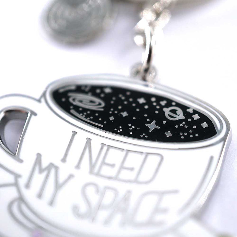 I Need My Space Coffee Cup Keychain