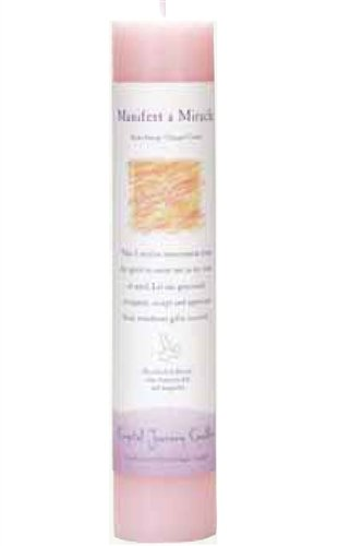 Manifest Miracle, Reiki Charged Pillar Candle