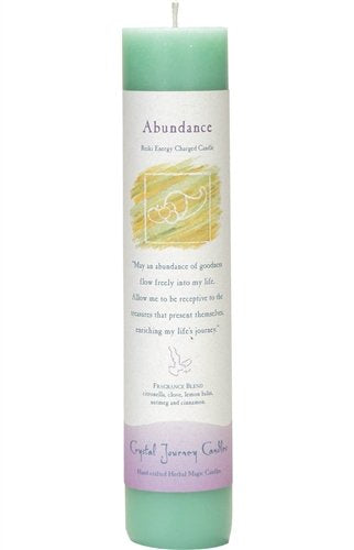 Abundance, Reiki Charged Pillar Candle