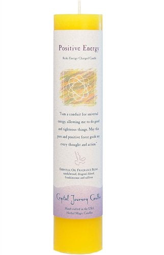 Positive Energy, Reiki Charged Pillar Candle