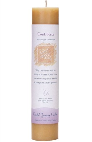 Confidence, Reiki Charged Pillar Candle