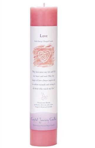 Love, Reiki Charged Pillar Candle