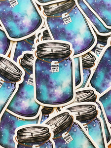 Jess Weymouth - Mason Jar Vinyl Sticker