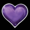 Tiny Amethyst Heart Offering Dish