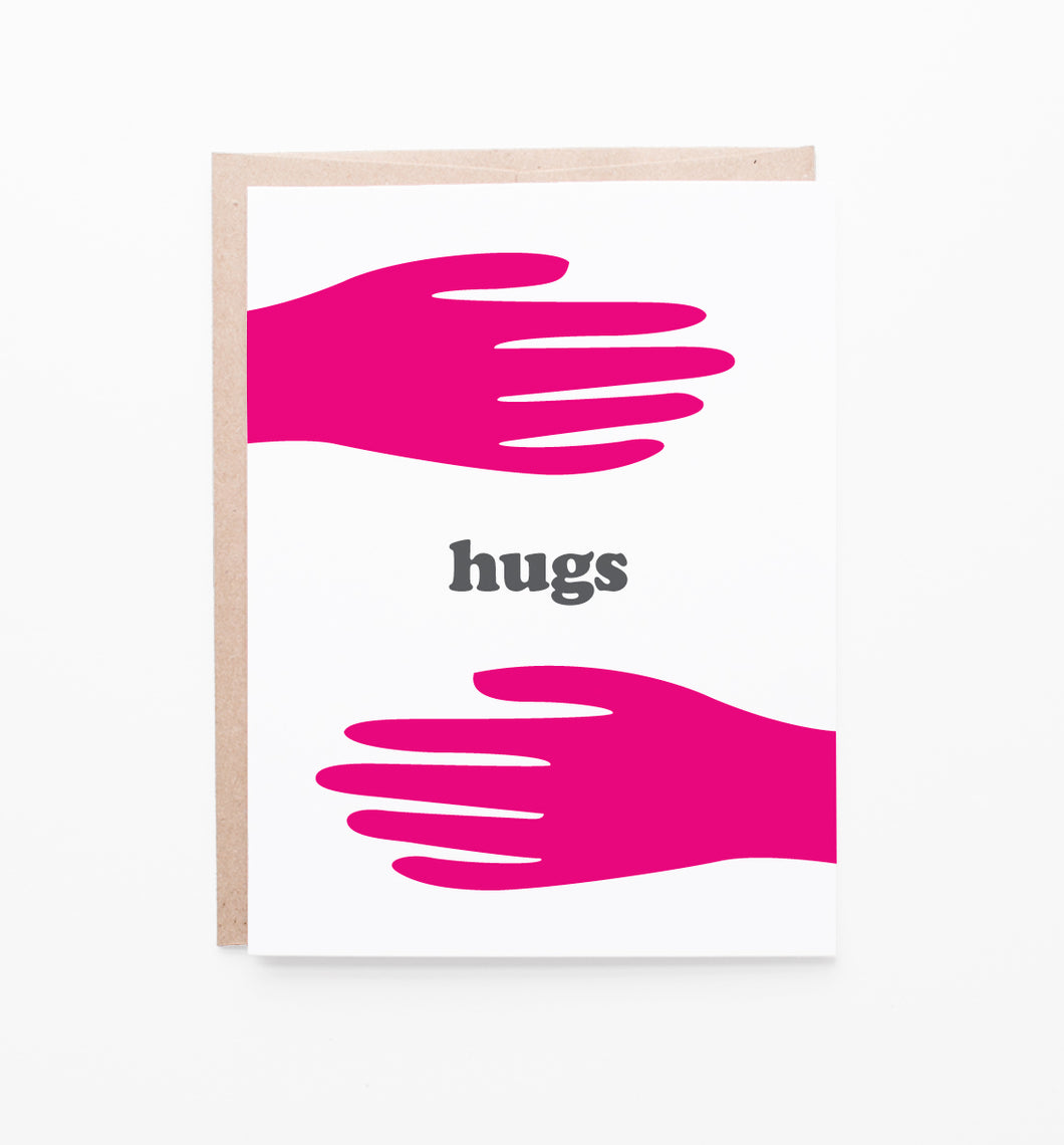 Graphic Anthology - Hugs card