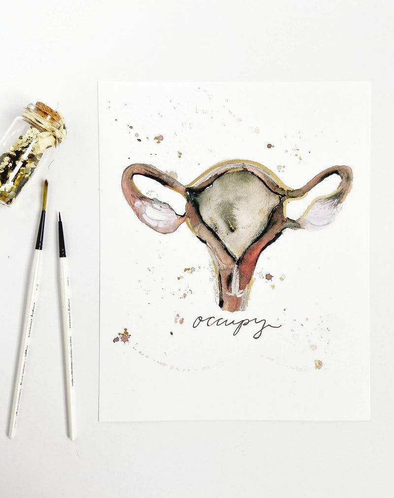 Occupy Anatomical Ovaries Print