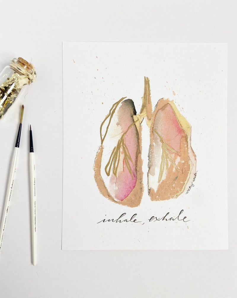 Inhale, Exhale Anatomical Lung Print