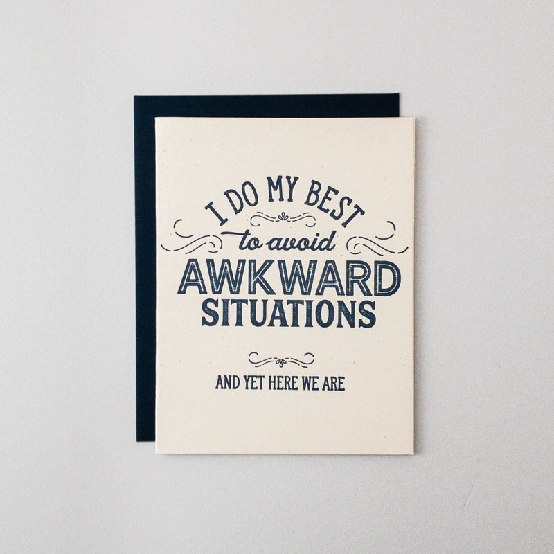 Awkward Situations Letterpress Card