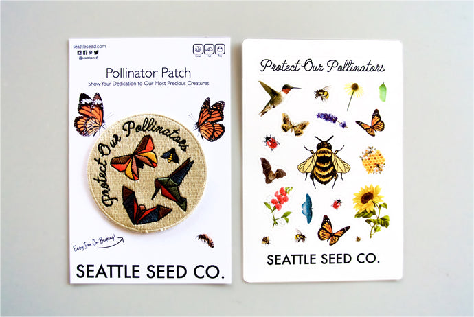 Seattle Seed Co. - Pollinator Pride Patch & Sticker Kit