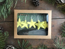 Load image into Gallery viewer, House of Moss - Felted Wool Star Ornaments - Set of 5