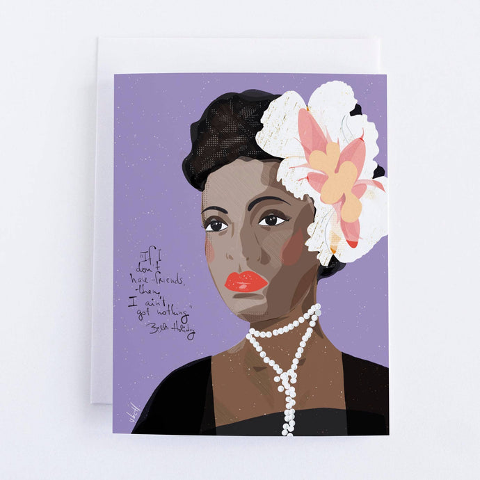 Billie Holiday Blank Greeting Card