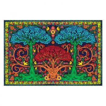 3D THREE TREES TAPESTRY