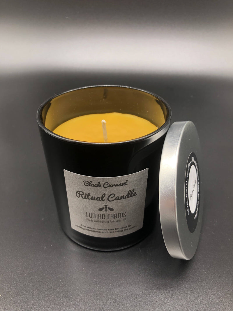 Moon Ritual Line Beeswax Candle