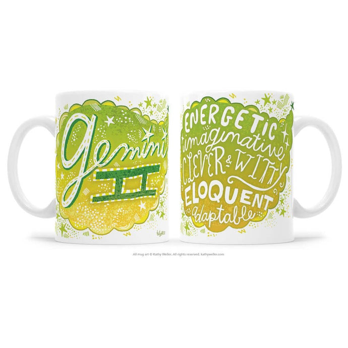 Kathy Weller Art+Ideas - Gemini Zodiac Astrology Mug