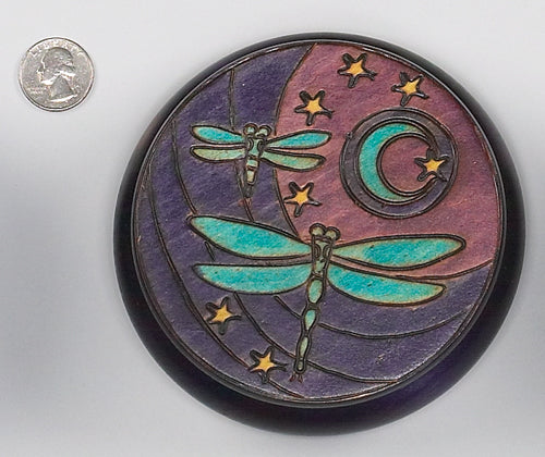DRAGONFLY MOON ROUND BOX