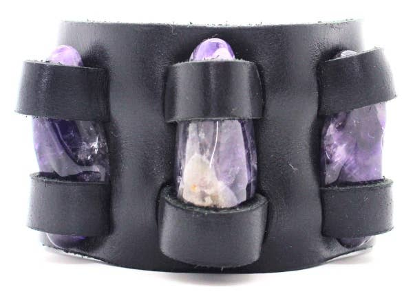 Gemstone Crystal Holder Bracelet Double Bands Without Stones