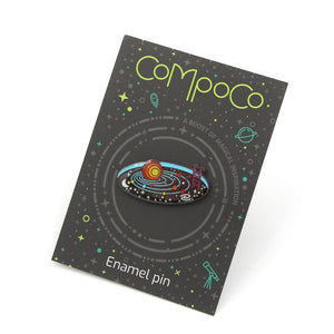 Compoco - Solar System Space Pool Enamel Pin