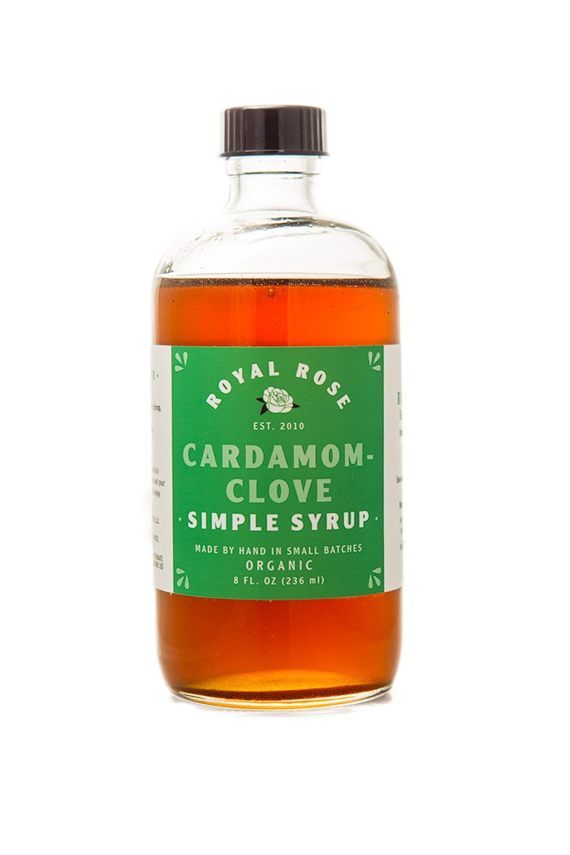 Organic Cardamom Clove Simple Syrup 8 oz.