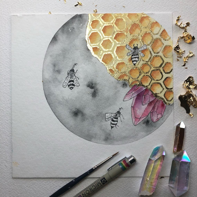Jess Weymouth - Beeing One With The Moon Print