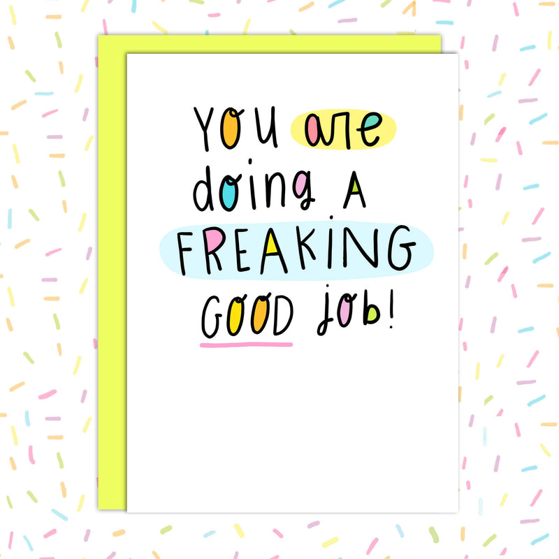 Good job!!! - Encouraging Mental Wellness Card (Copy)