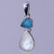 Moonstone Apatite Rough Pendant