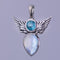 Moonstone Apatite Angel Wing Pendant