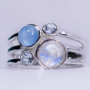 Moonstone Blue Jazz Ring
