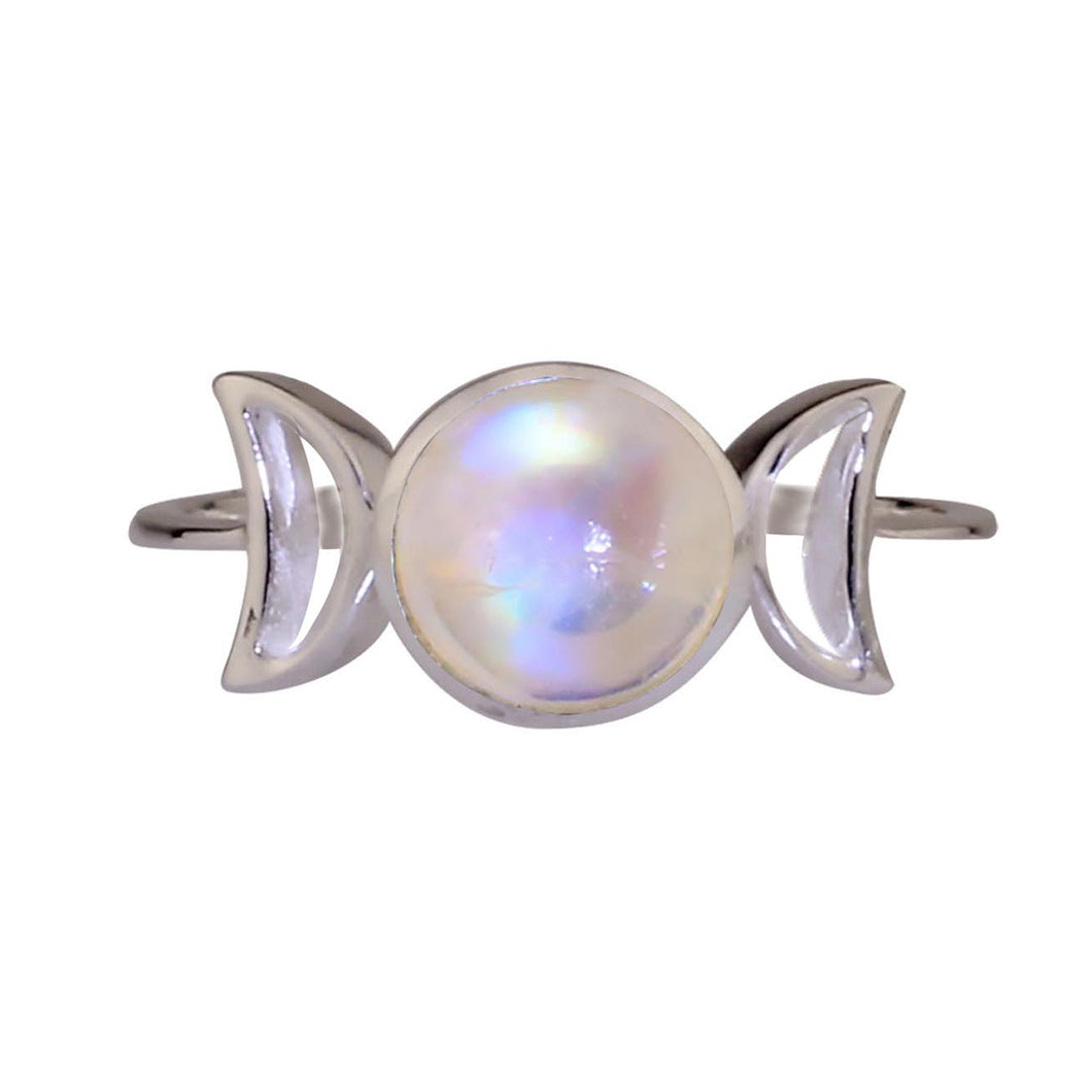Moonstone Triple Goddess Ring