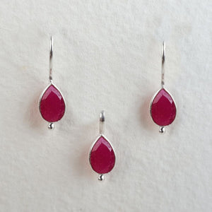Ruby Birthstone Set July