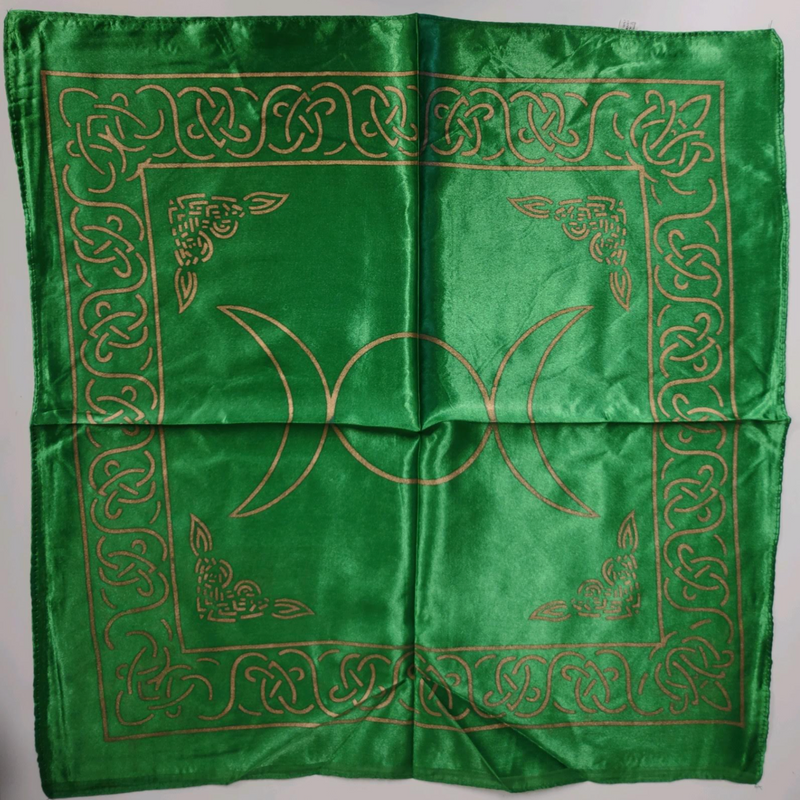 Triple Moon Altar Cloth | Green