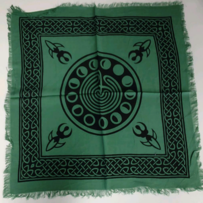 Moon Phase Altar Cloth | Green