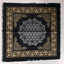 Flower of Life Altar Cloth | Black
