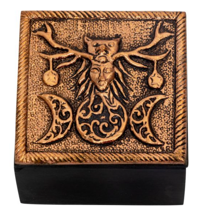 Pagan Bronze Metal Trinket Box
