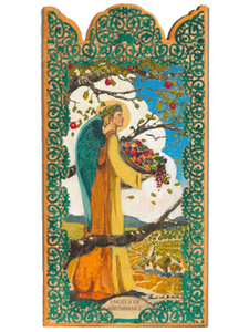 Angel of Abundance Wooden Pocket Plaque