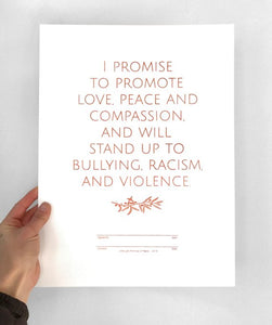 Little Lark - Promise Of Peace Print (gold, copper, silver)