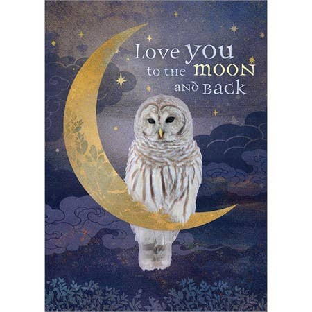 Love You To The Moon and Back Blank Greeting Card