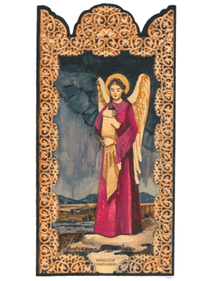 Angel of Compassion - Wooden Pocket Plaque