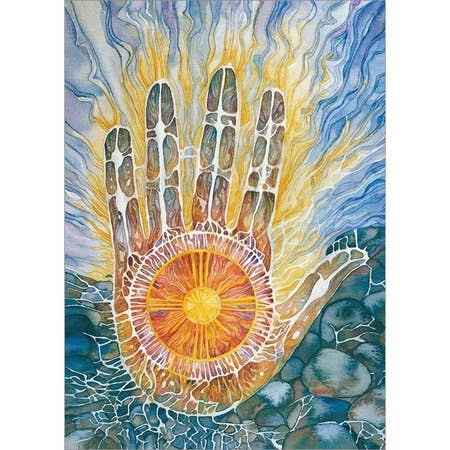 Native Spirit Medicine Hand Blank Greeting Card