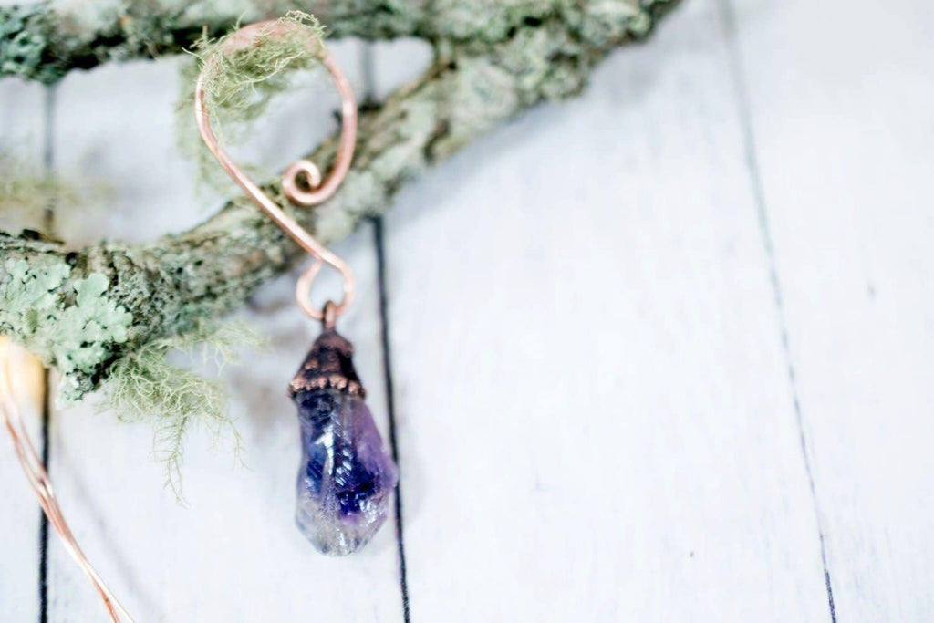 Amethyst Crystal Ornament - Single