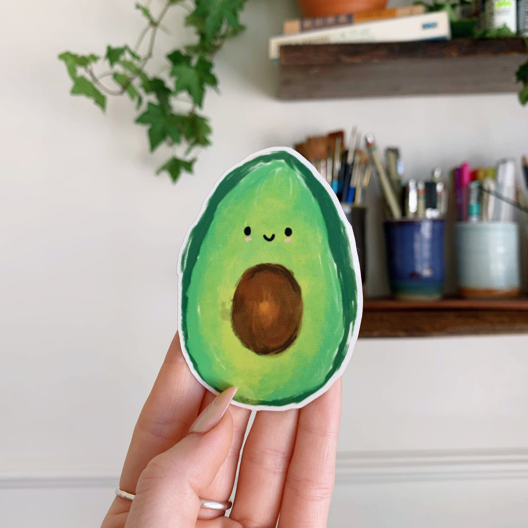 Jess Weymouth - Avocado Vinyl Sticker