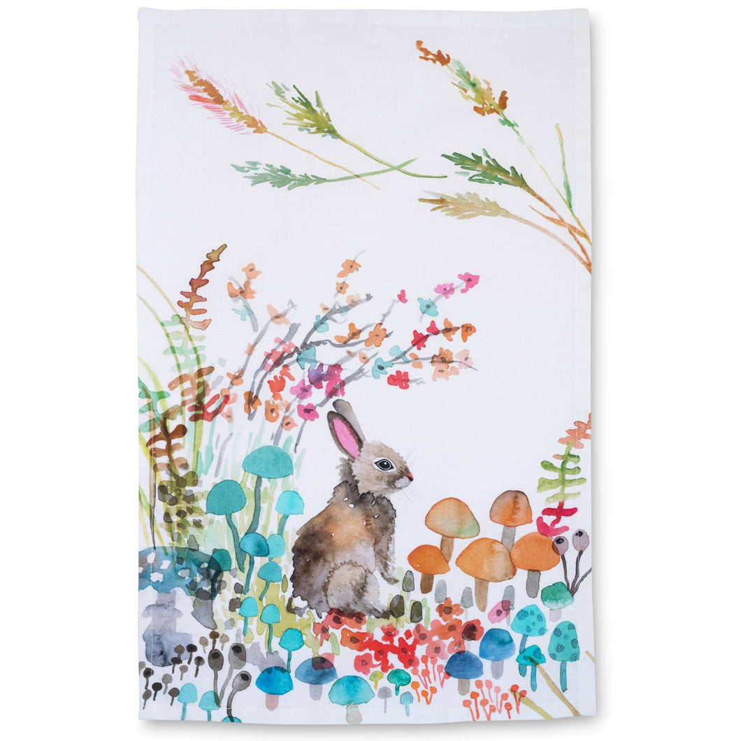 Betsy Olmsted Design - Tea Towel- Woodland Bunny