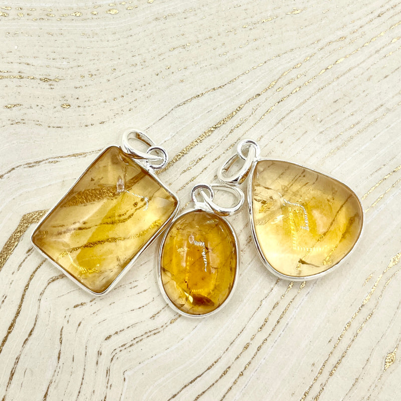 Sweet Citrine Pendant | Sterling Silver