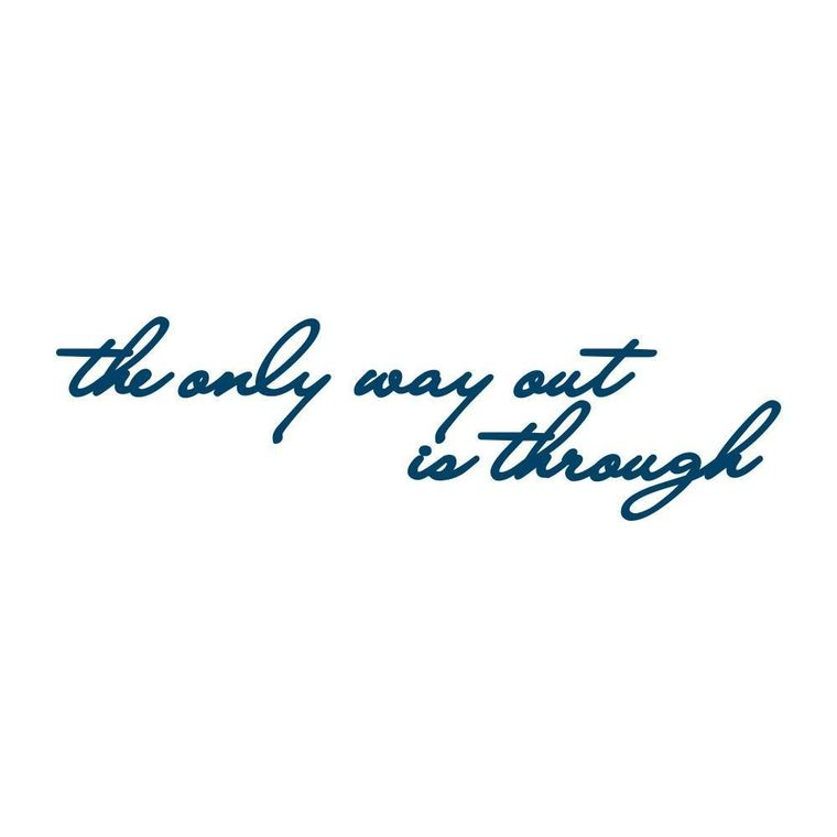 """The only way out is through"" Manifestation Tattoo 2-Pack"