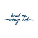 """Head up wings out"" Manifestation Tattoo 2-Pack"