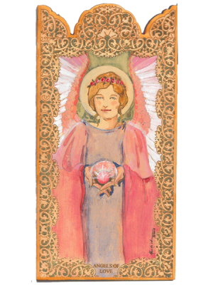 Angel of Love Wooden Pocket Plaque