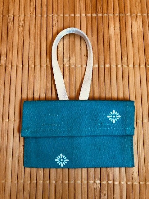 Turquoise Crystal Pouch