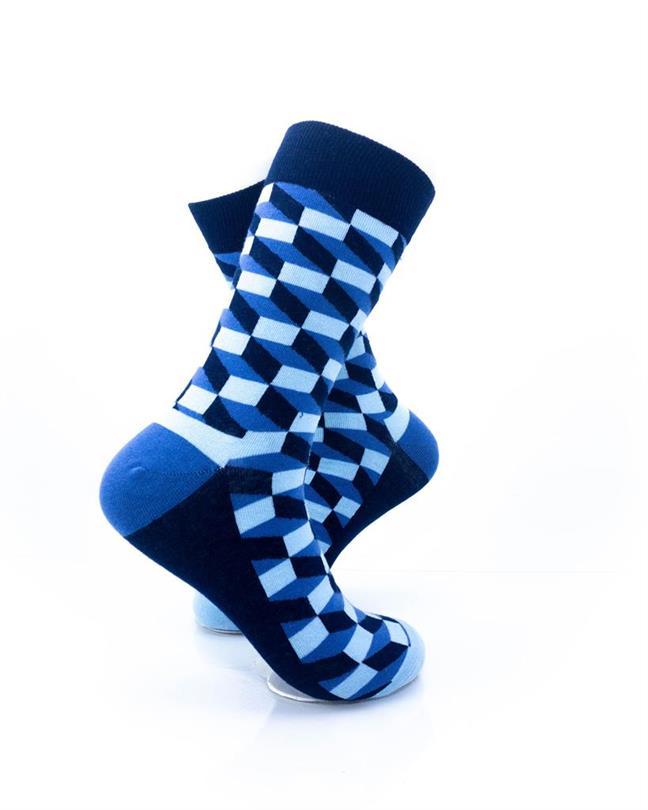 CoolDeSocks 3D Cubes Blue Socks right view image
